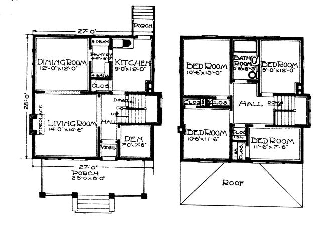 outstanding four square house plans with garage contemporary - best